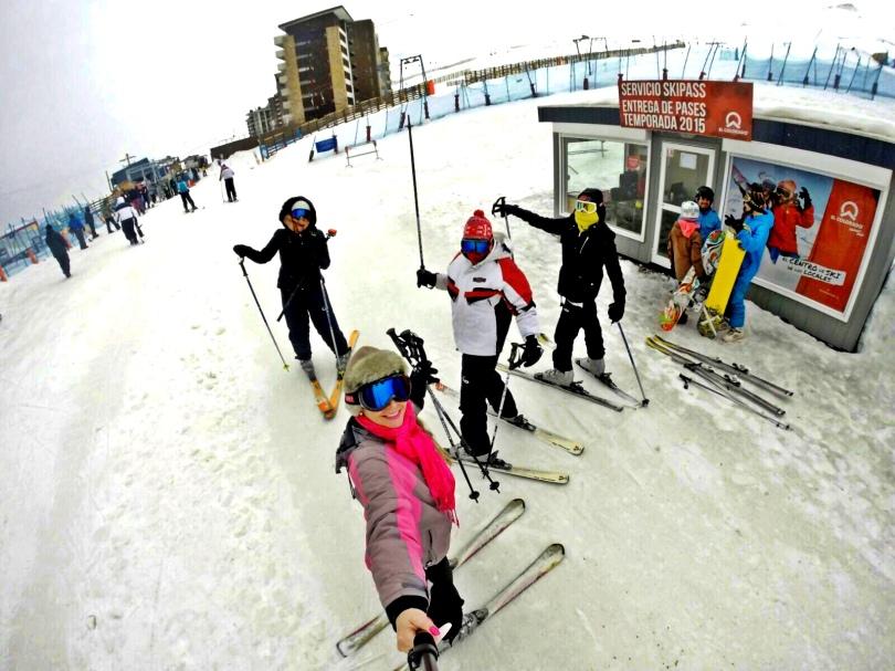 Esquiando pela primeira vez - El Colorado