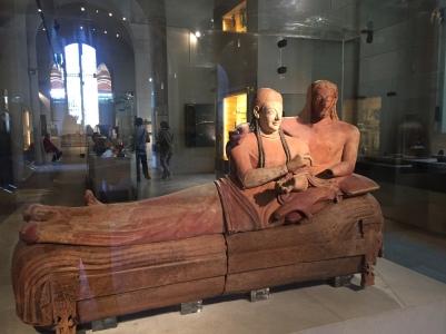 5- Esculturas na seção Etrusca e Romana