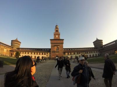 Castelo Sforzesco - dentro