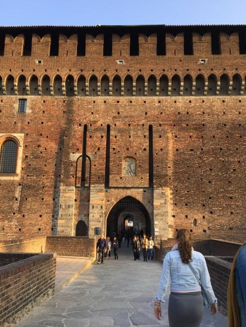 Castelo Sforzesco - entrada